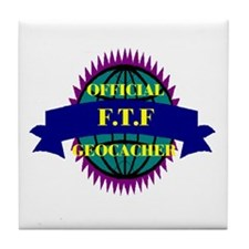 FTF Black/Purple Tile Coaster
