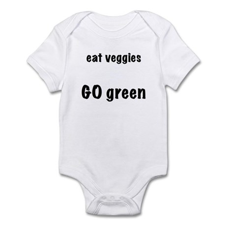 eat veggies, go green Infant Bodysuit