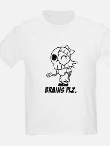 Cute Lil Zombie Girl Brains Plz Kid T