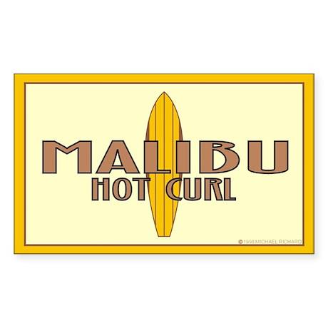 1947 Malibu Hotcurl Sticker Rectangular
