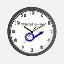Wall Clock I Like Well Hung Guys