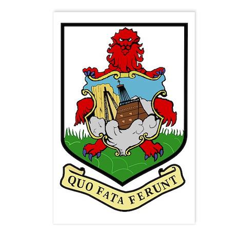 Bermuda Coat of Arms Emblem Postcards (Package of