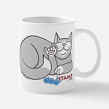 Gray/White ASL Kitty Mug