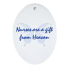 Unique Nurses are angels Ornament (Oval)