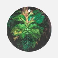 Green Man Ornament (Round)