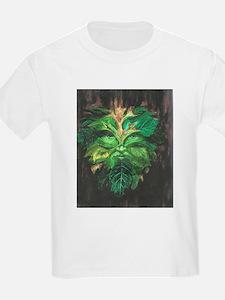 Green Man Kids T-Shirt