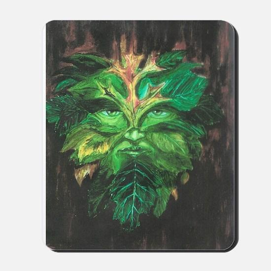 Green Man Mousepad