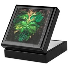 Green Man Keepsake Box