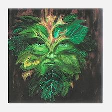 Green Man Tile Coaster