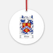 White [English] Ornament (Round)