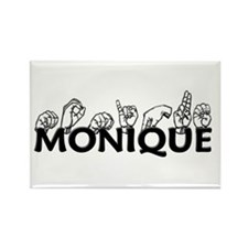 Monique-blk Rectangle Magnet