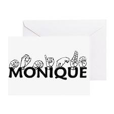 Monique-blk Greeting Card