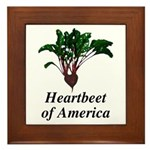 Heartbeet of America Framed Tile