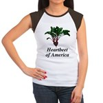 Heartbeet of America Women's Cap Sleeve T-Shirt