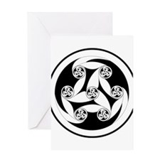 Celtic Spiral Motif Greeting Card