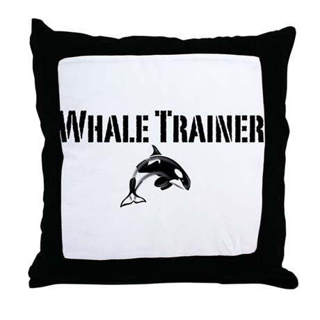 Whale Trainer Light Throw Pillow
