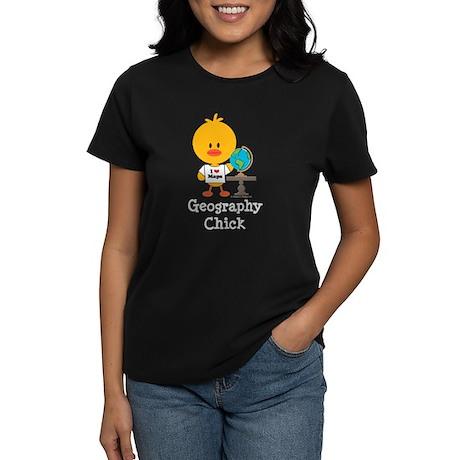 Geography Chick Women's Dark T-Shirt