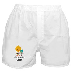 Geography Chick Boxer Shorts