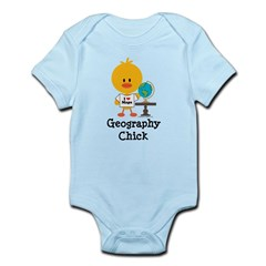 Geography Chick Infant Bodysuit
