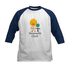 Geography Chick Kids Baseball Jersey