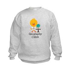 Geography Chick Kids Sweatshirt