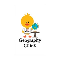 Geography Chick Sticker (Rectangle 50 pk)
