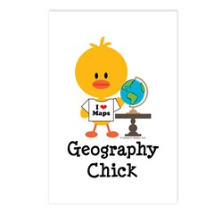 Geography Chick Postcards (Package of 8)