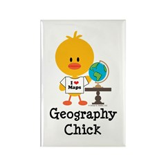 Geography Chick Rectangle Magnet (10 pack)