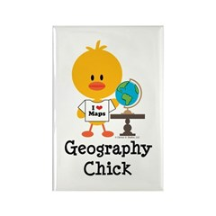 Geography Chick Rectangle Magnet