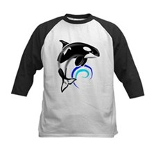 Orca Whale Dark Blue Waves Tee