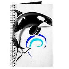 Orca Whale Dark Blue Waves Journal