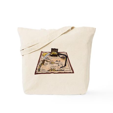 Pirate Map Treasure Tote Bag