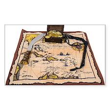 Pirate Map Treasure Decal
