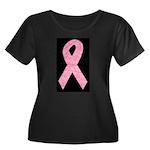 Breast Cancer Ribbon Art Women's Plus Size Scoop N