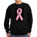 Breast Cancer Ribbon Art Sweatshirt (dark)