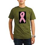 Breast Cancer Ribbon Art Organic Men's T-Shirt (da