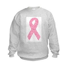 Breast Cancer Ribbon Art Sweatshirt