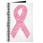 Breast Cancer Ribbon Art Journal