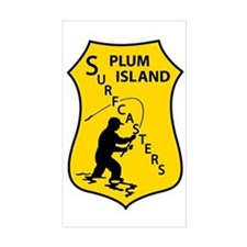 Plum Island Surfcasters Rectangle Decal