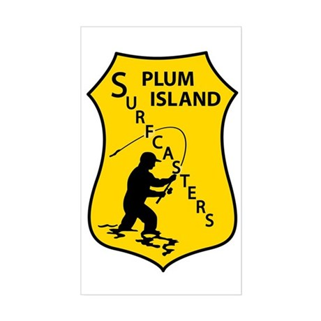 Plum Island Surfcasters Rectangle Sticker