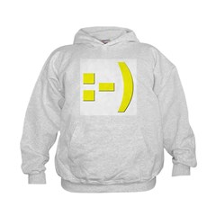 Text Smiley Hoodie