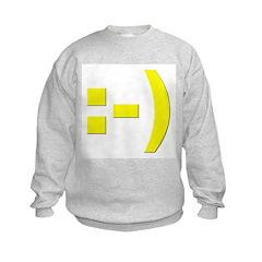 Text Smiley Sweatshirt