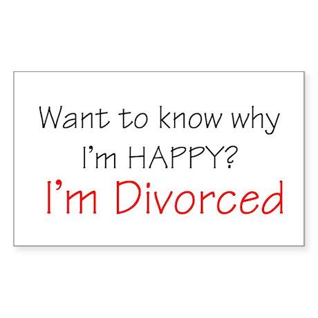 Want to know why I'm Happy? I Sticker (Rectangular