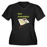 Not Guacomole Women's Plus Size V-Neck Dark T-Shir