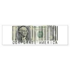 Corporate America Bumper Bumper Sticker