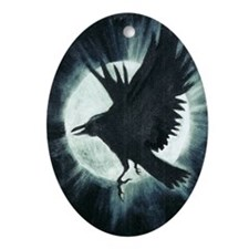 The Raven Oval Ornament