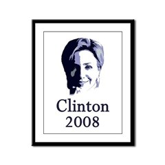 Portrait: Clinton 2008 Framed Panel Print