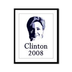 Portrait: Clinton 2008 Framed Panel Print