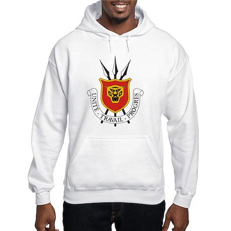 Burundi Coat of Arms Emblem Hooded Sweatshirt