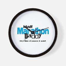 Half Marathon Daddy Peace Qui Wall Clock